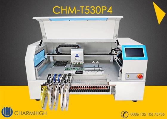 China Advanced 4 Heads High speed Desktop pick and place machine CHMT530P4  + Yamaha pneumatic feeder supplier